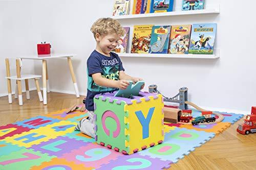 Kiduku Tappeto Puzzle 36 Pezzi Con Numeri E Lettere Colorati In Morbida Gomma Eva Resistente Isolante Lavabile Tappeto Da Gioco Per Bambini 0 1