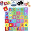 Kiduku Tappeto Puzzle 36 Pezzi Con Numeri E Lettere Colorati In Morbida Gomma Eva Resistente Isolante Lavabile Tappeto Da Gioco Per Bambini 0