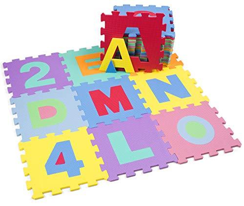 Kiduku Tappeto Puzzle 36 Pezzi Con Numeri E Lettere Colorati In Morbida Gomma Eva Resistente Isolante Lavabile Tappeto Da Gioco Per Bambini 0 2