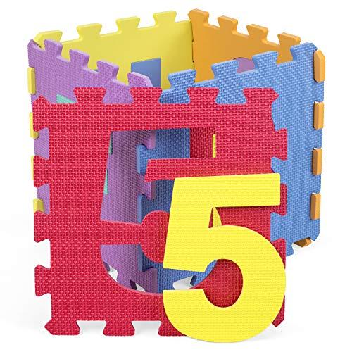 Kiduku Tappeto Puzzle 36 Pezzi Con Numeri E Lettere Colorati In Morbida Gomma Eva Resistente Isolante Lavabile Tappeto Da Gioco Per Bambini 0 5