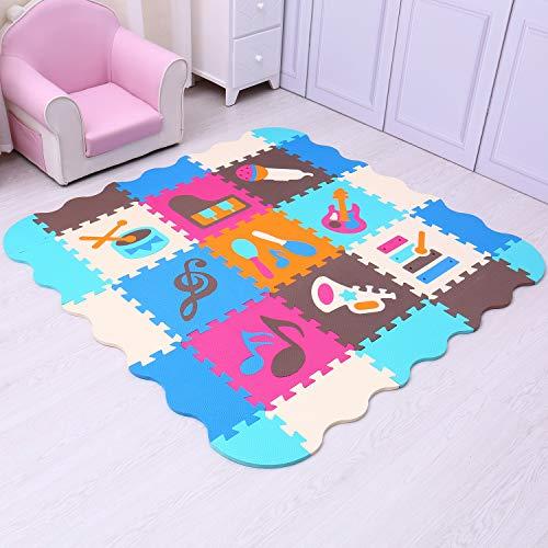 Mqiaoham Foam Puzzle Play Mat Con Bordi Kids Multi Color Safe Baby Playground Soft Imbottito Protezione Del Pavimento Di Alta Qualita Eva Foam Interlocking Tiles Non Tossico P009b3010 0 1