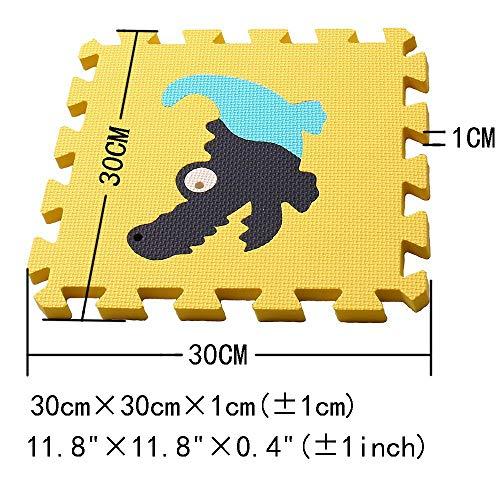 Mqiaoham Foam Puzzle Play Mat Con Bordi Kids Multi Color Safe Baby Playground Soft Imbottito Protezione Del Pavimento Di Alta Qualita Eva Foam Interlocking Tiles Non Tossico P009b3010 0 2