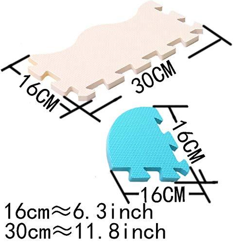 Mqiaoham Foam Puzzle Play Mat Con Bordi Kids Multi Color Safe Baby Playground Soft Imbottito Protezione Del Pavimento Di Alta Qualita Eva Foam Interlocking Tiles Non Tossico P009b3010 0 3