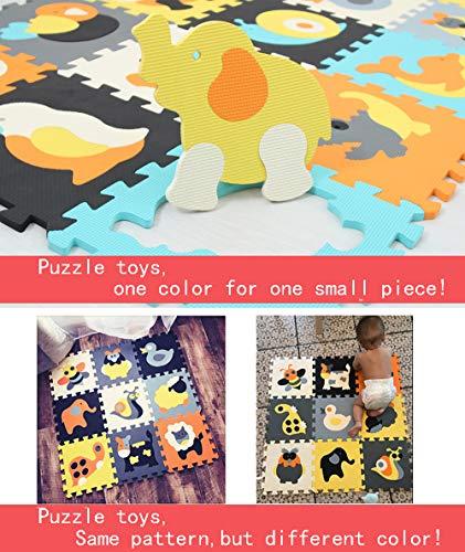 Mqiaoham Foam Puzzle Play Mat Con Bordi Kids Multi Color Safe Baby Playground Soft Imbottito Protezione Del Pavimento Di Alta Qualita Eva Foam Interlocking Tiles Non Tossico P009b3010 0 5