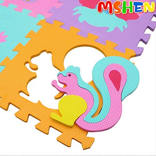Mshen Tappetini Puzzle Con Certificato Ce E Certificazione Tuv In Soffice Schiuma Eva Tappeto Da Gioco Per Bambini Tappetino Puzzle 10cs18g300927 0 0