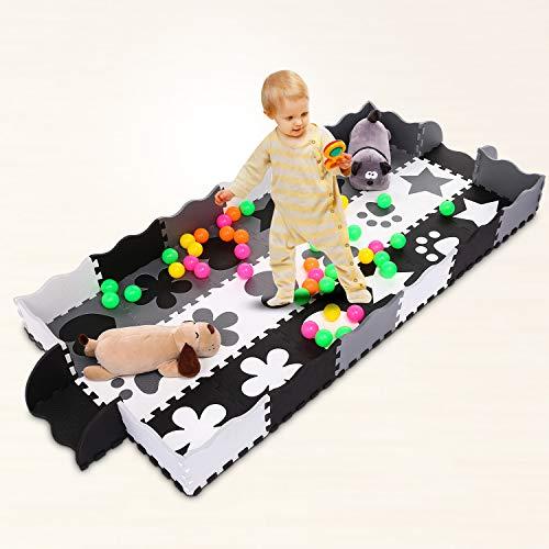 Profun Tappeto Per Bambini Rimovibile In Gomma Eva 40 Pezzi Coperta Puzzle In Schiuma Con Lettere E Numeri A Bolle Giganti Adatto A Neonati E Bambini 0 0