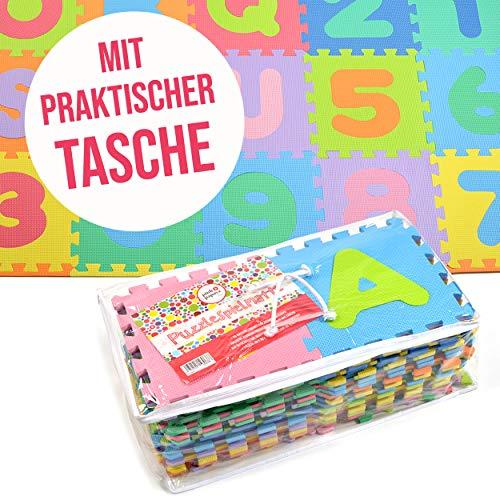 Puzzlestar Kids Zone110 Pezzi Di Eva Anti Scivolo Bambini Puzzle Tappeto Bambini Il Tappeto Puo Essere Montato Ogni Pezzo E 30x 30x 1cm Di Larghezza Tappeto Puzzle Con Numeri E Lettere 0 1