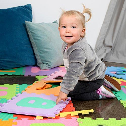 Puzzlestar Kids Zone110 Pezzi Di Eva Anti Scivolo Bambini Puzzle Tappeto Bambini Il Tappeto Puo Essere Montato Ogni Pezzo E 30x 30x 1cm Di Larghezza Tappeto Puzzle Con Numeri E Lettere 0 2