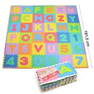 Puzzlestar Kids Zone110 Pezzi Di Eva Anti Scivolo Bambini Puzzle Tappeto Bambini Il Tappeto Puo Essere Montato Ogni Pezzo E 30x 30x 1cm Di Larghezza Tappeto Puzzle Con Numeri E Lettere 0