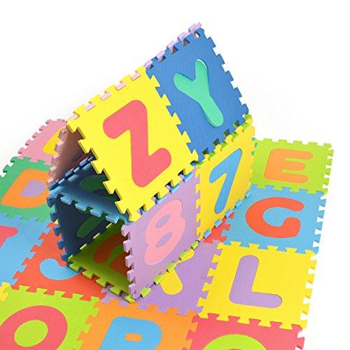Puzzlestar Xxl 86 Pezzi Puzzle Tappeto Per Bambini In Eva Antiscivolo Il Grande Tappeto Gioco Puo Essere Montato Ogni Pezzo E 30x 30x 30x 30x 1cm Di Larghezza Tappeto Puzzle Con Numeri E Lettere 0 1