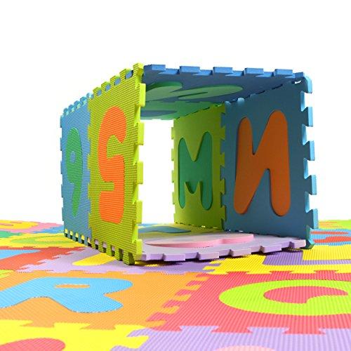 Puzzlestar Xxl 86 Pezzi Puzzle Tappeto Per Bambini In Eva Antiscivolo Il Grande Tappeto Gioco Puo Essere Montato Ogni Pezzo E 30x 30x 30x 30x 1cm Di Larghezza Tappeto Puzzle Con Numeri E Lettere 0 2