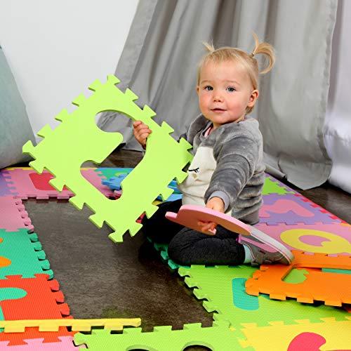 Puzzlestar Xxl 86 Pezzi Puzzle Tappeto Per Bambini In Eva Antiscivolo Il Grande Tappeto Gioco Puo Essere Montato Ogni Pezzo E 30x 30x 30x 30x 1cm Di Larghezza Tappeto Puzzle Con Numeri E Lettere 0 4