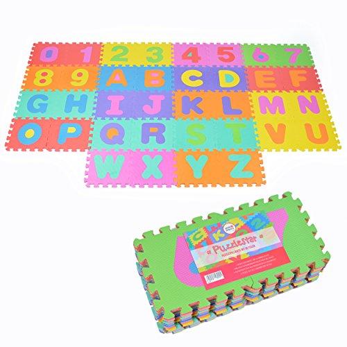 Puzzlestar Xxl 86 Pezzi Puzzle Tappeto Per Bambini In Eva Antiscivolo Il Grande Tappeto Gioco Puo Essere Montato Ogni Pezzo E 30x 30x 30x 30x 1cm Di Larghezza Tappeto Puzzle Con Numeri E Lettere 0