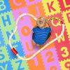 Relaxdays 10021531 Tappeto Puzzle Da Gioco Per Bambini 86 Pz Lettere E Numeri Tappetino In Gommapiuma Eva Lxp 180x 180 Cm Colorato 0 1