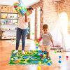 Relaxdays Tappeto Puzzle Con Dinosauri 9 Tasselli Tappetino Per Bambini Atossico Gommapiuma Eva 90 X 90 Cm Colorato Multicolore 9 Pezzi 10031433 0 0