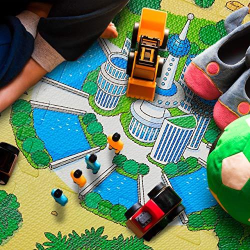 Relaxdays Tappeto Puzzle Con Dinosauri 9 Tasselli Tappetino Per Bambini Atossico Gommapiuma Eva 90 X 90 Cm Colorato Multicolore 9 Pezzi 10031433 0 1