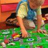 Relaxdays Tappeto Puzzle Con Immagine Di Una Strada 9 Tasselli Atossico In Gomma Piuma Lxp 90x90 Cm Multicolore Eva Set Da 9x 0 3