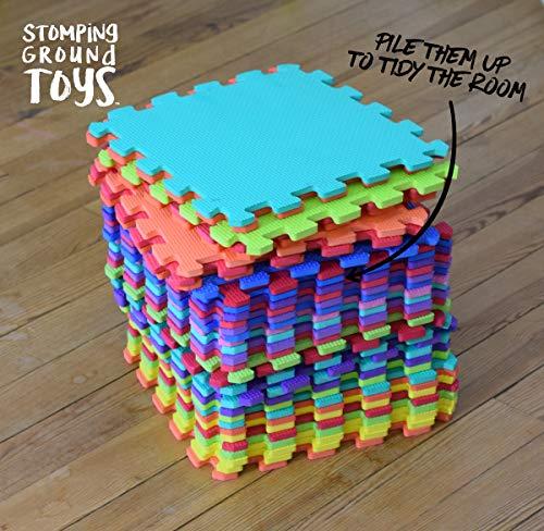 Stomping Ground Toys Tappeto Puzzle Per Bambini In Soffice Schiuma Eva Tappeto Da Gioco Multicolore Tappetino Puzzle Antiscivolo 32 X 32 X 1 Cm 20 Pezzi 0 0