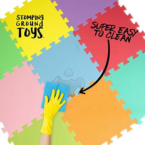 Stomping Ground Toys Tappeto Puzzle Per Bambini In Soffice Schiuma Eva Tappeto Da Gioco Multicolore Tappetino Puzzle Antiscivolo 32 X 32 X 1 Cm 20 Pezzi 0 4