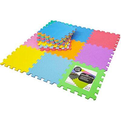 Stomping Ground Toys Tappeto Puzzle Per Bambini In Soffice Schiuma Eva Tappeto Da Gioco Multicolore Tappetino Puzzle Antiscivolo 32 X 32 X 1 Cm 20 Pezzi 0