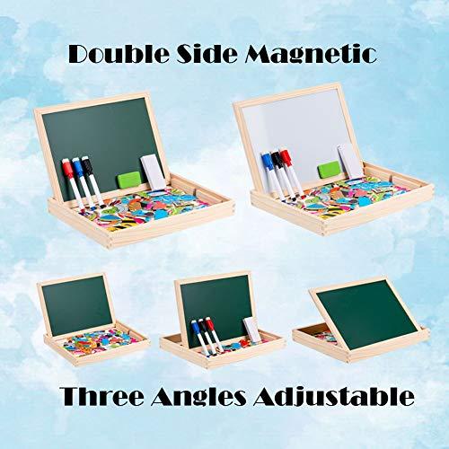 Uping Puzzle Magnetico Legno 130 Pezzi Con Lavagna A Double Face Per Bambini 3 Anni 0 2