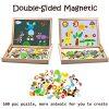 Uping Puzzle Magnetico Di Legno Lavagna Magnetica Puzzle Per Bambini 3 4 5 Anni Apprendimento Educativo 100 Pezzi Animali 0 0