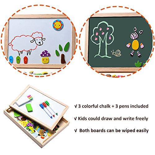 Uping Puzzle Magnetico Di Legno Lavagna Magnetica Puzzle Per Bambini 3 4 5 Anni Apprendimento Educativo 100 Pezzi Animali 0 1