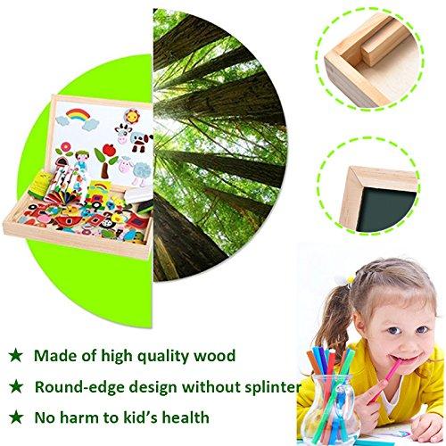Uping Puzzle Magnetico Di Legno Lavagna Magnetica Puzzle Per Bambini 3 4 5 Anni Apprendimento Educativo 100 Pezzi Animali 0 2