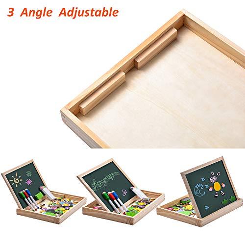 Uping Puzzle Magnetico Di Legno Lavagna Magnetica Puzzle Per Bambini 3 4 5 Anni Apprendimento Educativo 100 Pezzi Animali 0 3