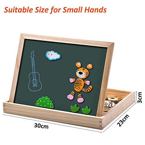 Uping Puzzle Magnetico Di Legno Lavagna Magnetica Puzzle Per Bambini 3 4 5 Anni Apprendimento Educativo 100 Pezzi Animali 0 4
