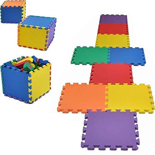 Vlfit Tappeto Gioco Bimbi 33 X 33 X 1cm Set 10 O 20 Pezzi Materiale Isolante Resistente Allumidita Multi Colore 10 Pezzi 0 1