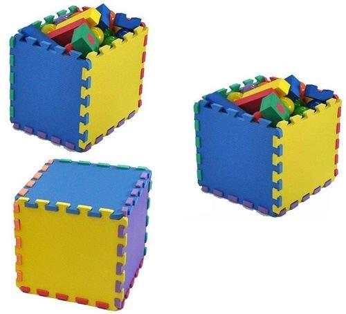 Vlfit Tappeto Gioco Bimbi 33 X 33 X 1cm Set 10 O 20 Pezzi Materiale Isolante Resistente Allumidita Multi Colore 10 Pezzi 0 2