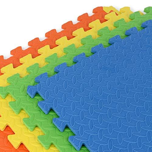 Vlfit Tappeto Gioco Bimbi 33 X 33 X 1cm Set 10 O 20 Pezzi Materiale Isolante Resistente Allumidita Multi Colore 10 Pezzi 0 3