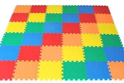 Vlfit Tappeto Gioco Bimbi 33 X 33 X 1cm Set 10 O 20 Pezzi Materiale Isolante Resistente Allumidita Multi Colore 10 Pezzi 0