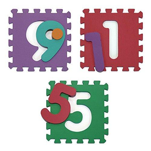 Velovendo Tappeto Puzzle Con Certificato Ce E Testato Tuv Rheinland In Soffice Schiuma Eva Tappeto Da Gioco Per Bambini Tappetino Puzzle Lettere Numeri 0 3