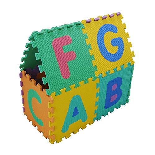 Velovendo Tappeto Puzzle Con Certificato Ce E Testato Tuv Rheinland In Soffice Schiuma Eva Tappeto Da Gioco Per Bambini Tappetino Puzzle Lettere Numeri 0 4