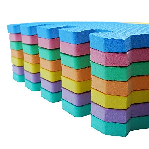 Velovendo Tappeto Puzzle Con Certificato Ce E Testato Tuv Rheinland In Soffice Schiuma Eva Tappeto Da Gioco Per Bambini Tappetino Puzzle Lettere Numeri 0 5
