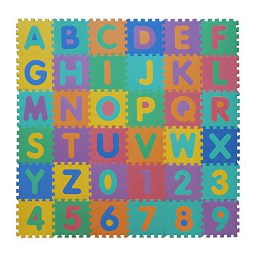 Velovendo Tappeto Puzzle Con Certificato Ce E Testato Tuv Rheinland In Soffice Schiuma Eva Tappeto Da Gioco Per Bambini Tappetino Puzzle Lettere Numeri 0