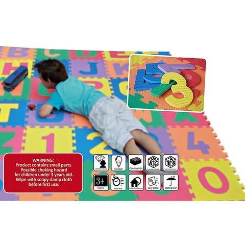 Weddecor Ad Incastro Tappeto Gioco Pavimento Mattonella Schiuma Morbida Puzzleprotezione Pavimentiimparare Superficie Per Bambini Multicolore 36pz Multi Small 0 1