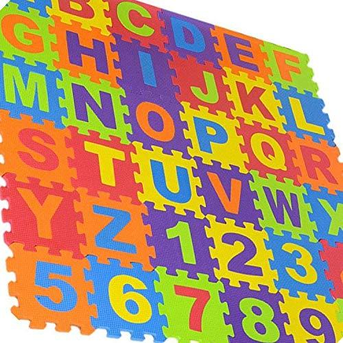 Weddecor Ad Incastro Tappeto Gioco Pavimento Mattonella Schiuma Morbida Puzzleprotezione Pavimentiimparare Superficie Per Bambini Multicolore 36pz Multi Small 0 2
