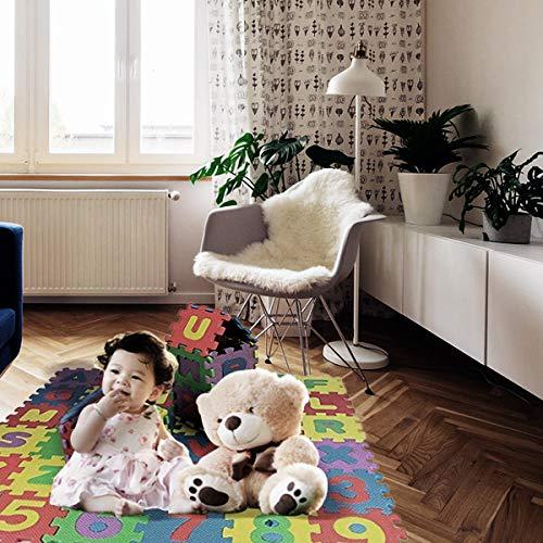 Weddecor Ad Incastro Tappeto Gioco Pavimento Mattonella Schiuma Morbida Puzzleprotezione Pavimentiimparare Superficie Per Bambini Multicolore 36pz Multi Small 0 3