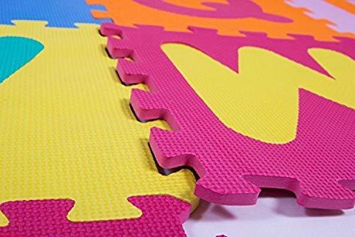 Weddecor Ad Incastro Tappeto Gioco Pavimento Mattonella Schiuma Morbida Puzzleprotezione Pavimentiimparare Superficie Per Bambini Multicolore 36pz Multi Small 0 5