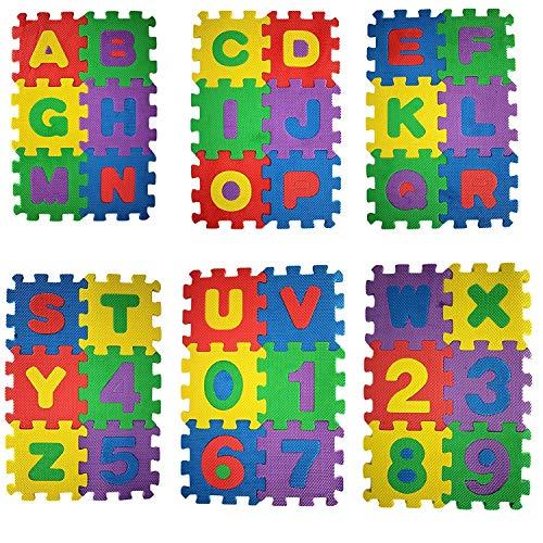 Weddecor Ad Incastro Tappeto Gioco Pavimento Mattonella Schiuma Morbida Puzzleprotezione Pavimentiimparare Superficie Per Bambini Multicolore 36pz Multi Small 0