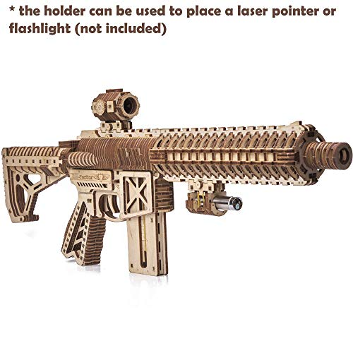 Wood Trick Puzzle Di Legno Puzzle 3d Pistola Di Assalto Ar T 0 1