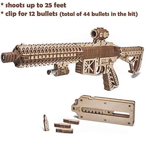 Wood Trick Puzzle Di Legno Puzzle 3d Pistola Di Assalto Ar T 0 2