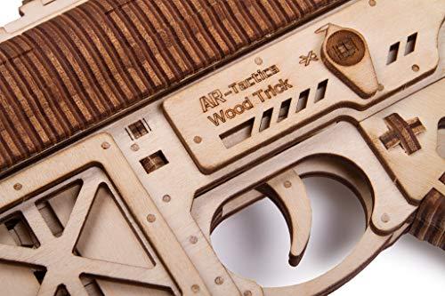 Wood Trick Puzzle Di Legno Puzzle 3d Pistola Di Assalto Ar T 0 3