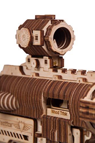 Wood Trick Puzzle Di Legno Puzzle 3d Pistola Di Assalto Ar T 0 5
