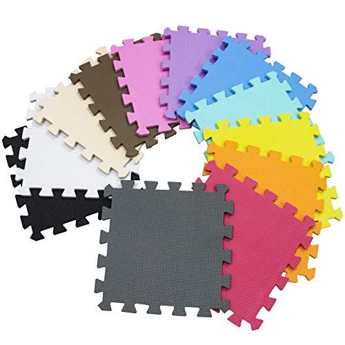 Meiqicool Tappeto Puzzle Bambini Gioco Bianco E Grigio142 X 114cm18 Pezzi 0 5