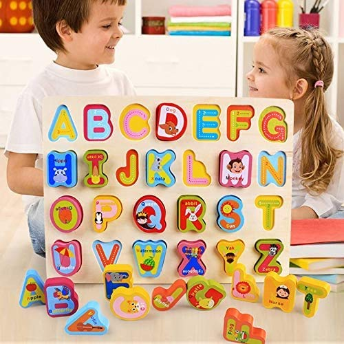 0best Mattoncini Legno 2 Pezzi Numeri Di Lettere Abc Colorati Puzzle In Legno Impilabili Per La Scuola Materna Educazione E Sviluppo Della Prima Infanzia 0 0