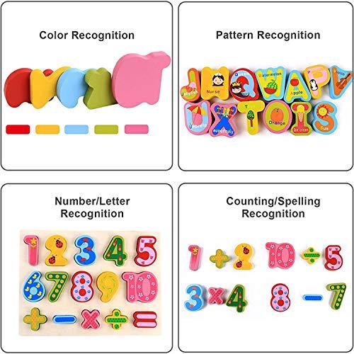 0best Mattoncini Legno 2 Pezzi Numeri Di Lettere Abc Colorati Puzzle In Legno Impilabili Per La Scuola Materna Educazione E Sviluppo Della Prima Infanzia 0 2